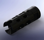 CompTek Type I Muzzle Brake/Compensator Black Melonite
